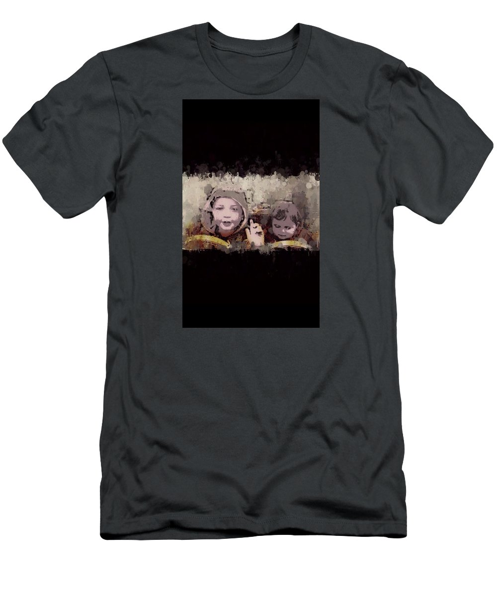 Kids Men's T-Shirt (Athletic Fit) featuring the photograph Taxi For Two by Katie Reed