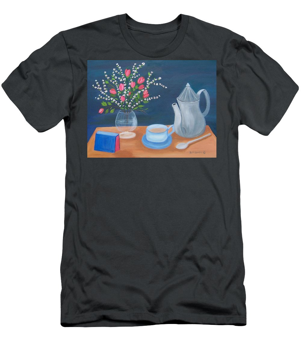 Still Life Men's T-Shirt (Athletic Fit) featuring the painting Tea Time by Ruth Housley