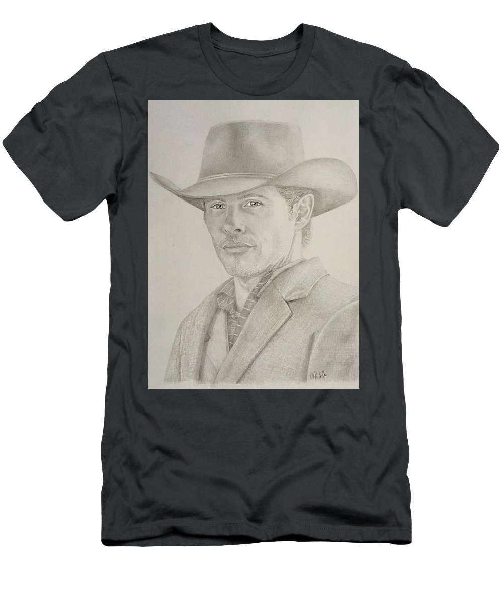 Westworld Men's T-Shirt (Athletic Fit) featuring the drawing Teddy by Vanessa Cole