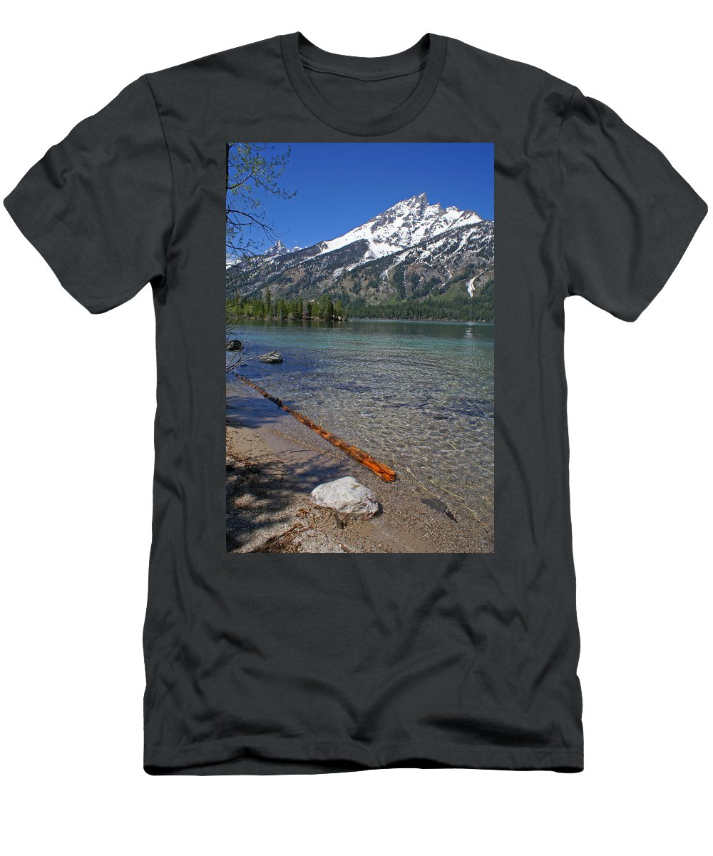 Grand Tetons Men's T-Shirt (Athletic Fit) featuring the photograph Teewinot by Heather Coen
