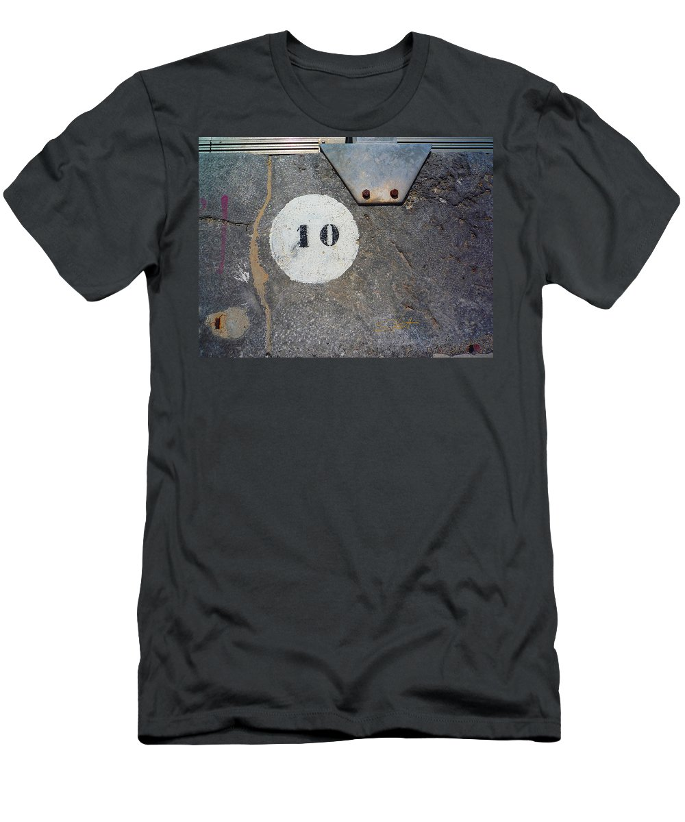Number Men's T-Shirt (Athletic Fit) featuring the photograph Ten by Charles Stuart