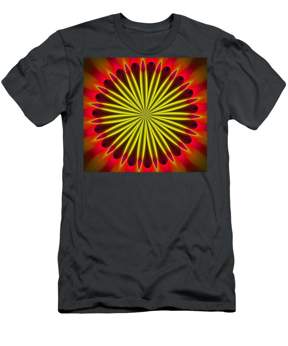 Fine Art Men's T-Shirt (Athletic Fit) featuring the digital art Ten Minute Art 102610c by David Lane