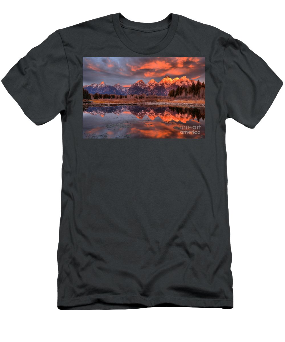 Tetons Men's T-Shirt (Athletic Fit) featuring the photograph Teton 4 by Adam Jewell