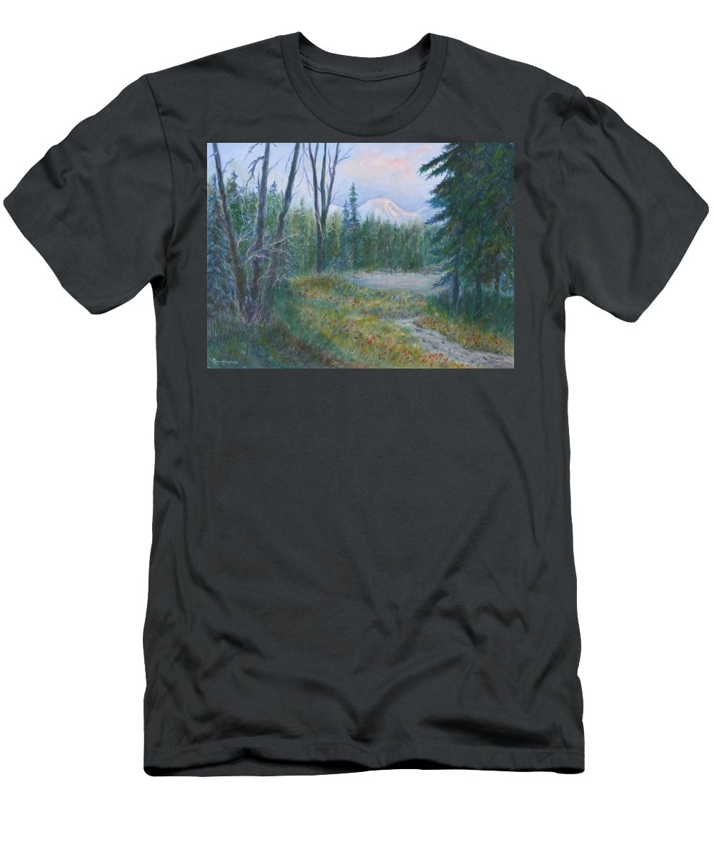 Landscape Men's T-Shirt (Athletic Fit) featuring the painting Teton Valley by Ben Kiger