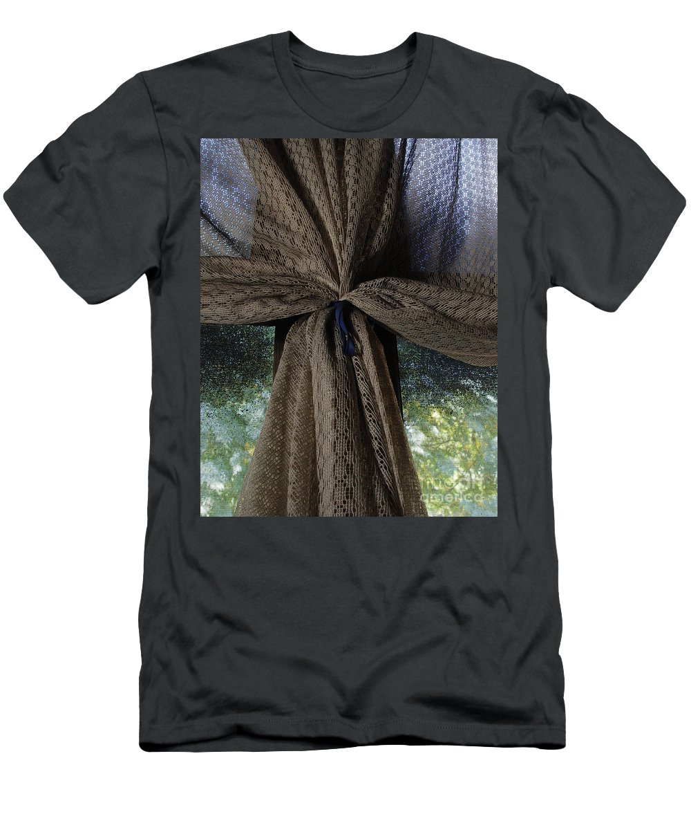 Texture Men's T-Shirt (Athletic Fit) featuring the photograph Texture And Lace by Peter Piatt