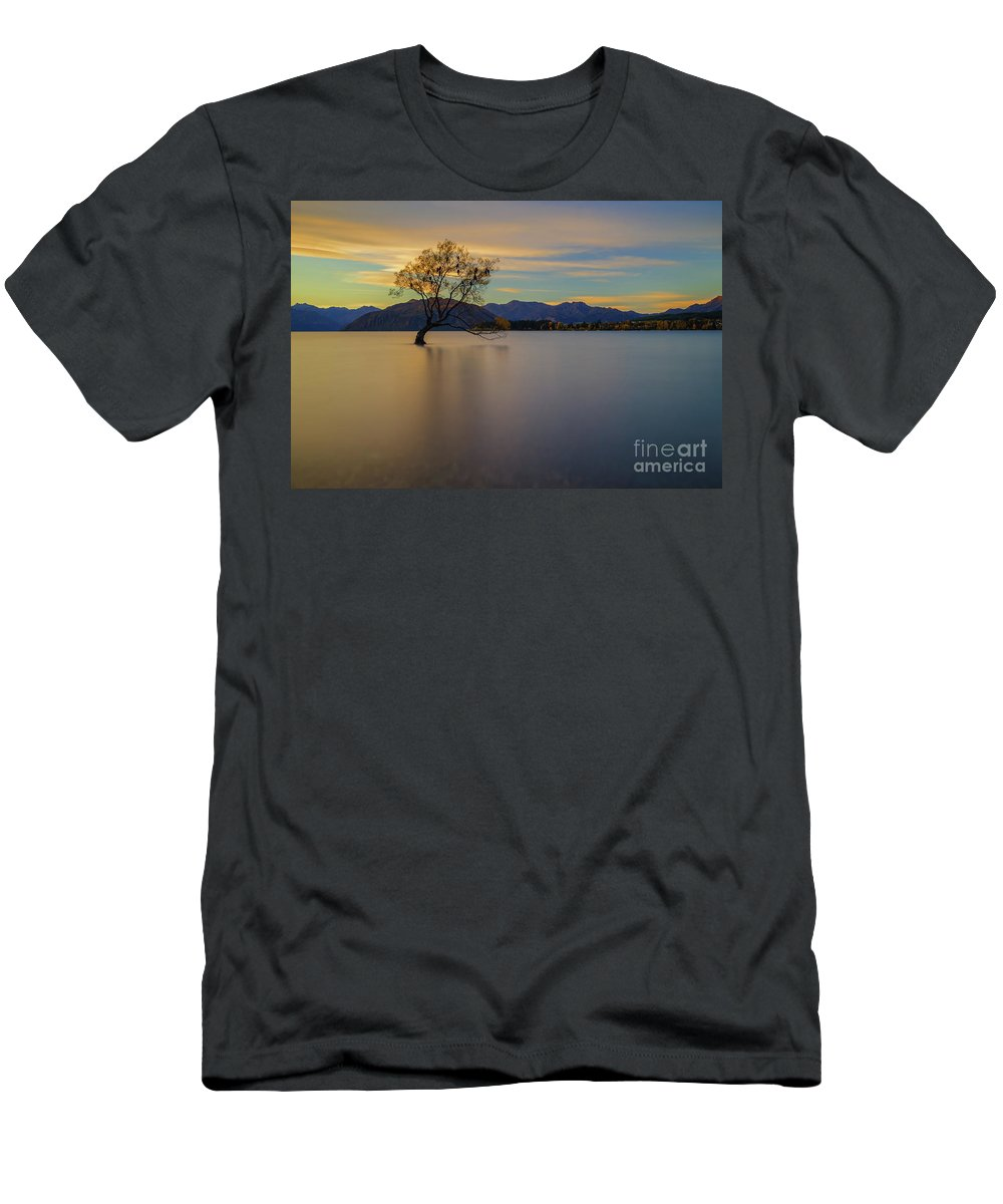 Wanaka Men's T-Shirt (Athletic Fit) featuring the photograph #thatwanakatree by Kamrul Arifin Mansor