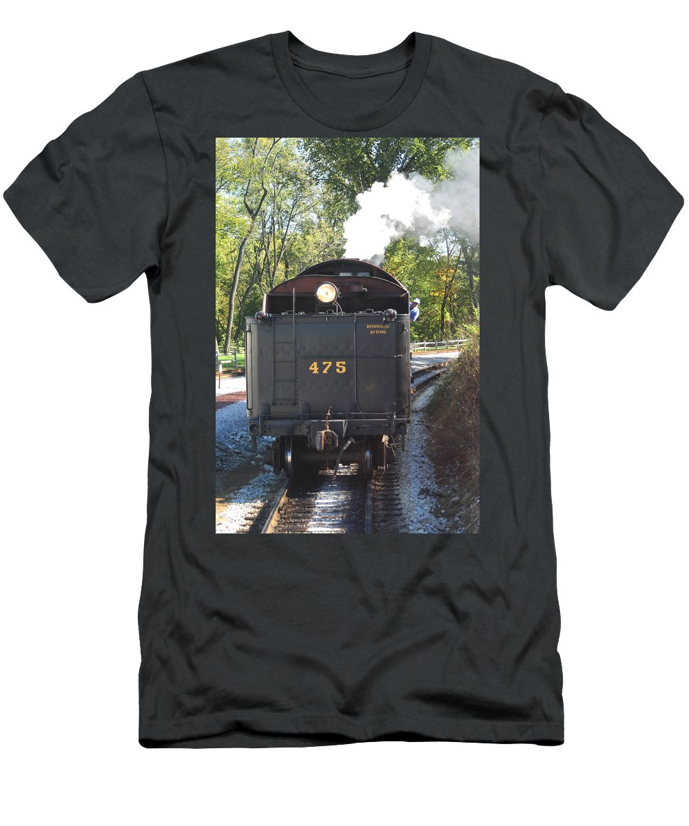 475 Train Men's T-Shirt (Athletic Fit) featuring the photograph The 475 by Living Color Photography Lorraine Lynch