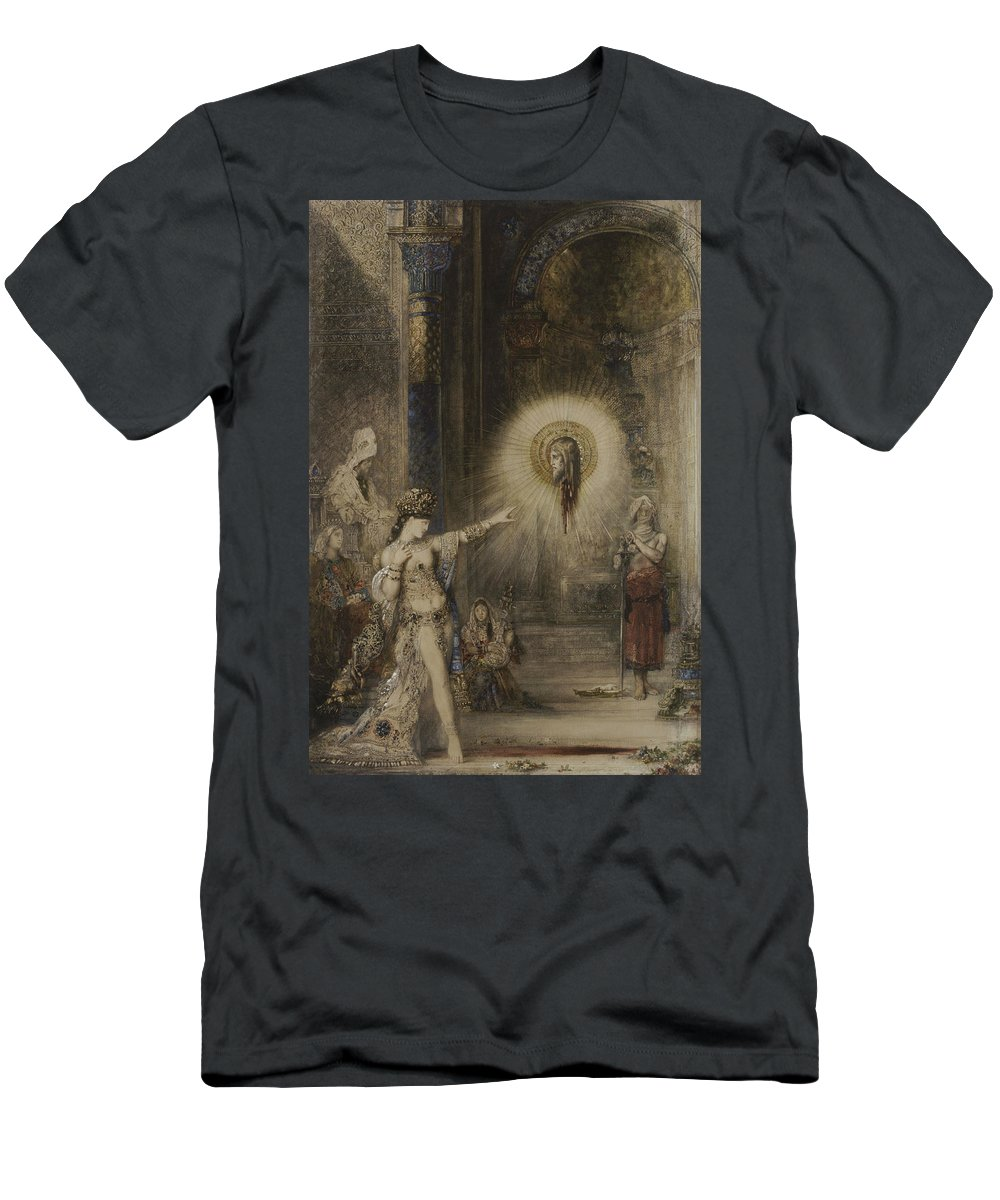Symbolist Men's T-Shirt (Athletic Fit) featuring the painting The Apparition by Gustave Moreau
