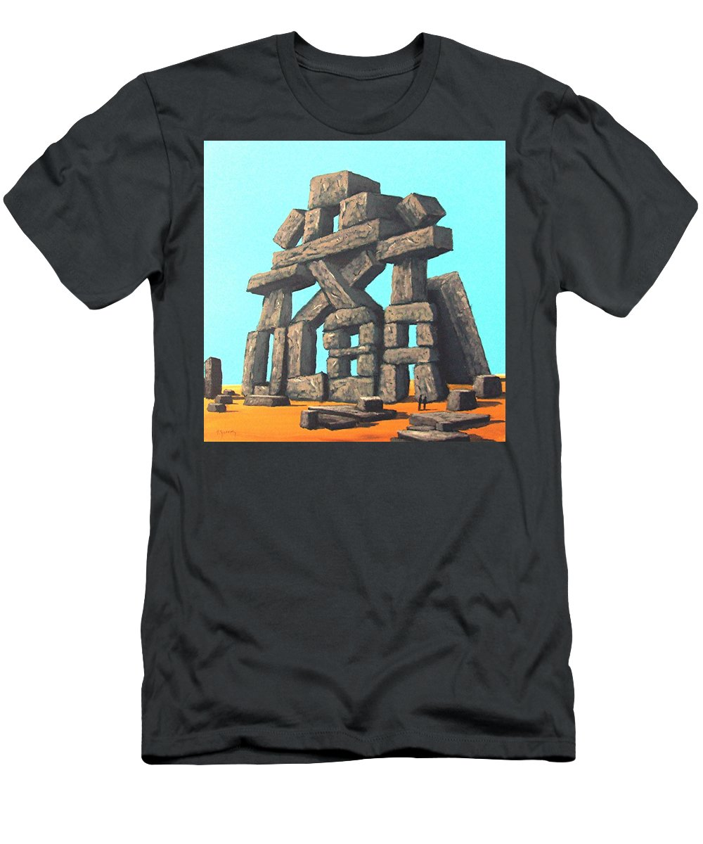 Conversation Men's T-Shirt (Athletic Fit) featuring the painting The Art Of Modern Conversation by Tony Gunning