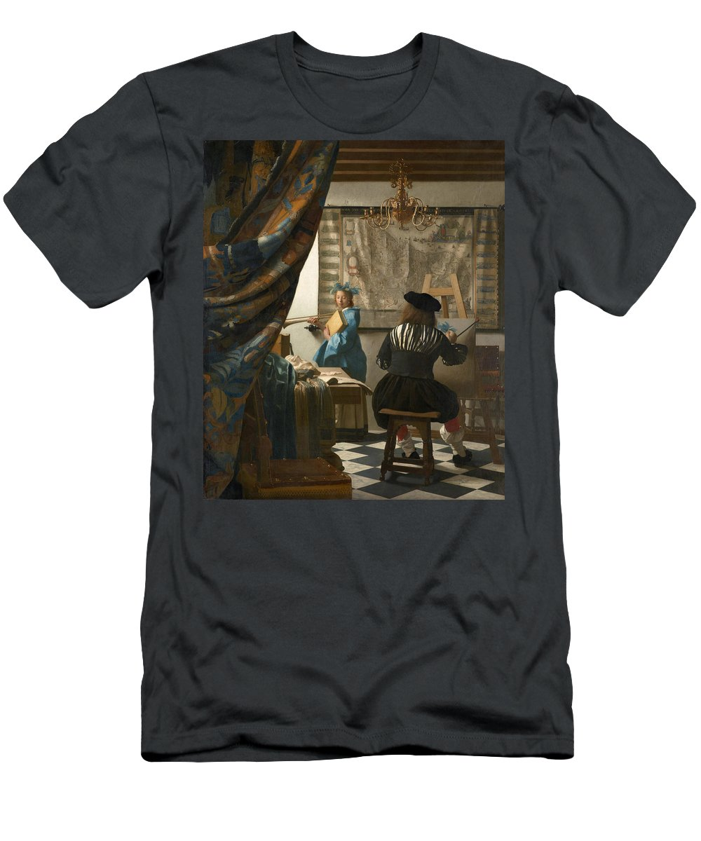 Jan Vermeer T-Shirt featuring the painting The Art Of Painting by Jan Vermeer