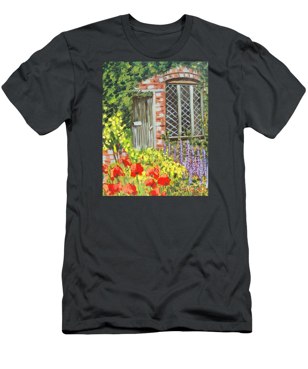 Windows T-Shirt featuring the painting The Artist's Cottage by Laurie Morgan