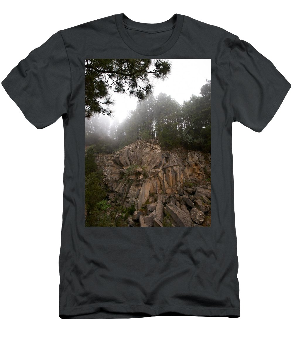 Landscape Men's T-Shirt (Athletic Fit) featuring the photograph The Basalt Rose 1 by Jouko Lehto