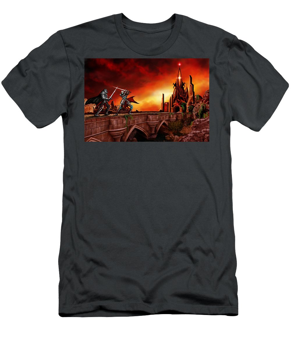 Copyright 2015 - James Christopher Hill T-Shirt featuring the painting The Battle for the Crystal Castle by James Christopher Hill