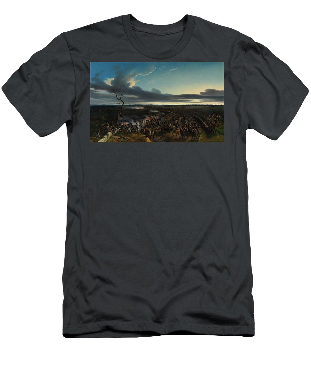 Aristocrat Men's T-Shirt (Athletic Fit) featuring the painting The Battle Of Montmirail by Emile-Jean-Horace Vernet