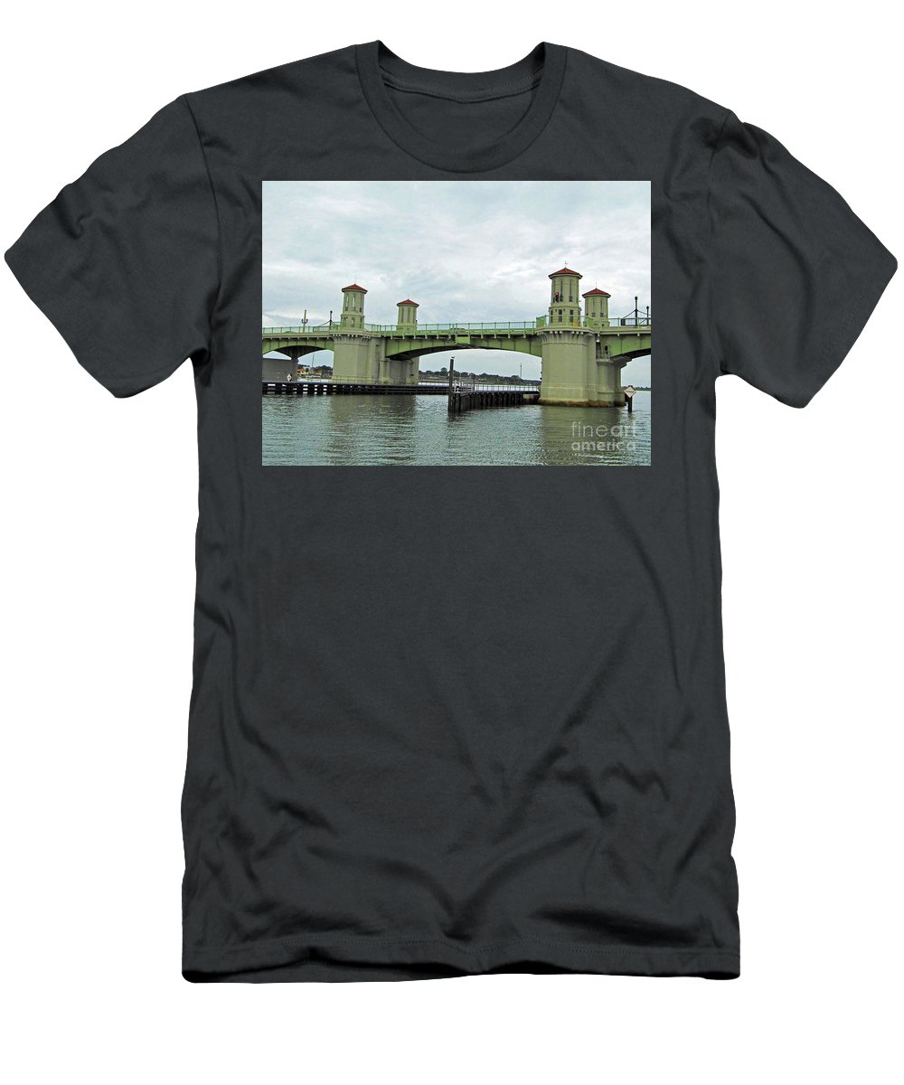 Bridge Of Lions Men's T-Shirt (Athletic Fit) featuring the photograph The Beautiful Bridge Of Lions by D Hackett