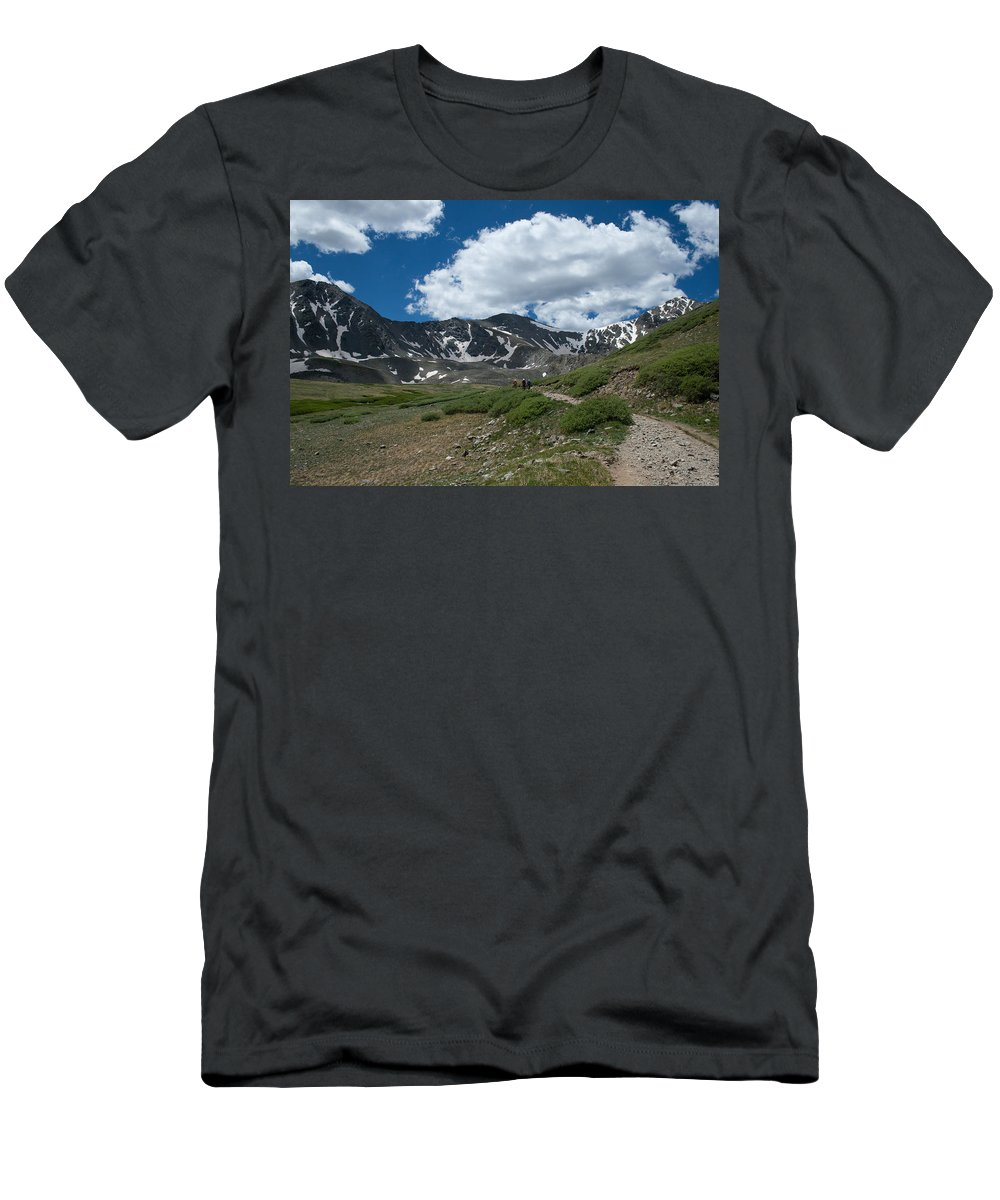 Grays Peak Men's T-Shirt (Athletic Fit) featuring the photograph The Beginning by Angus Hooper Iii