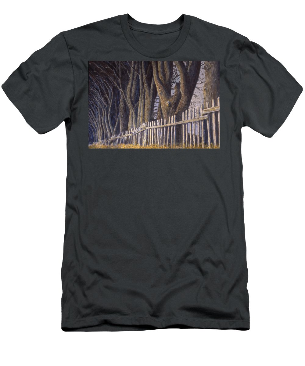 Bird House Men's T-Shirt (Athletic Fit) featuring the painting The Bird House by Jerry McElroy