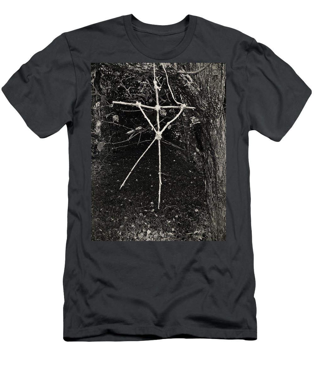 Magic Men's T-Shirt (Athletic Fit) featuring the photograph The Blair Witch by JoNeL Art