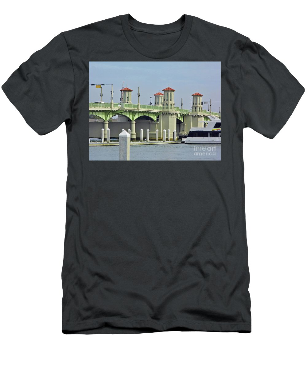 Bridge Of Lions Men's T-Shirt (Athletic Fit) featuring the photograph The Bridge Of Lions by D Hackett