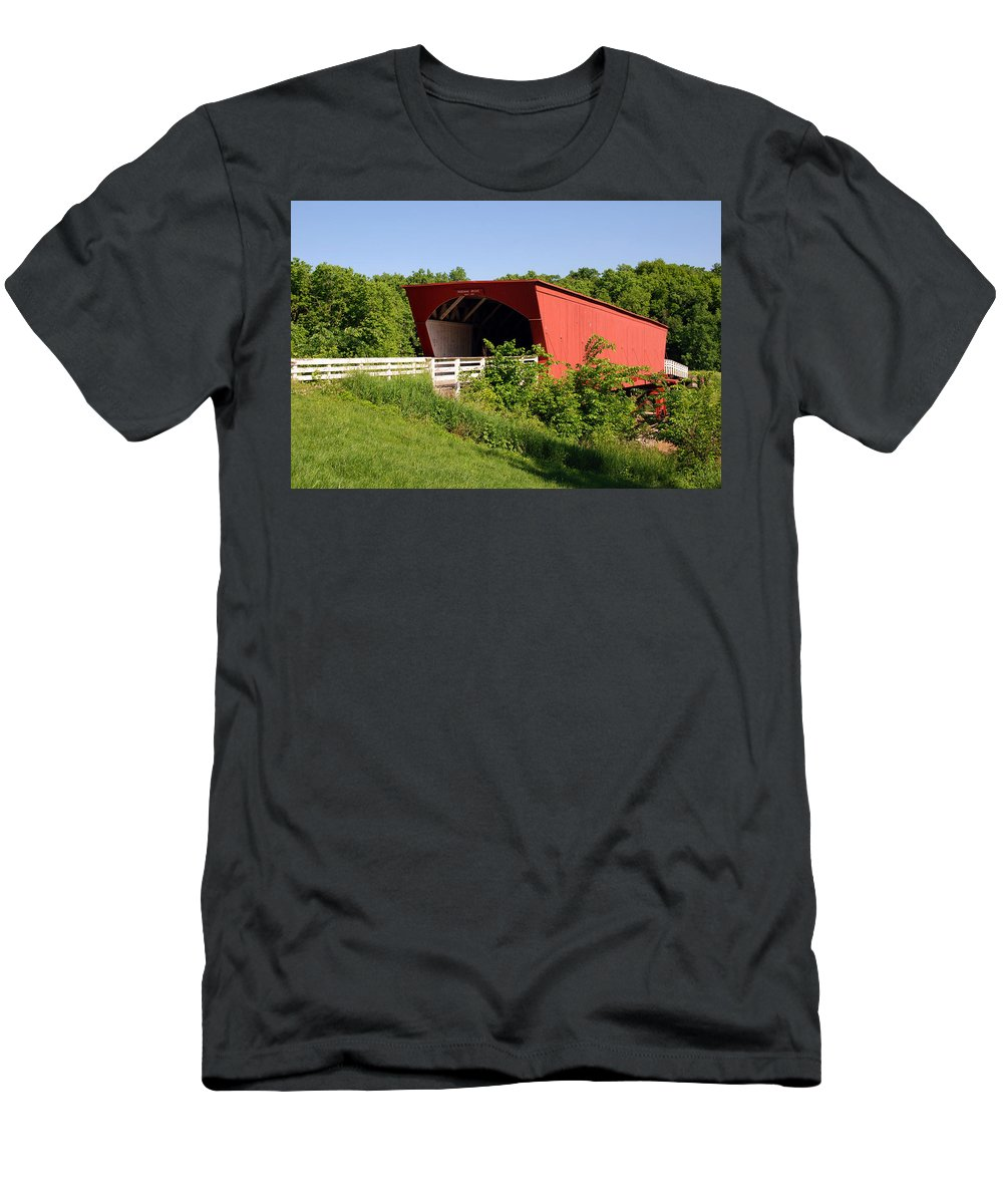Photography Men's T-Shirt (Athletic Fit) featuring the photograph The Bridges Of Madison County by Susanne Van Hulst
