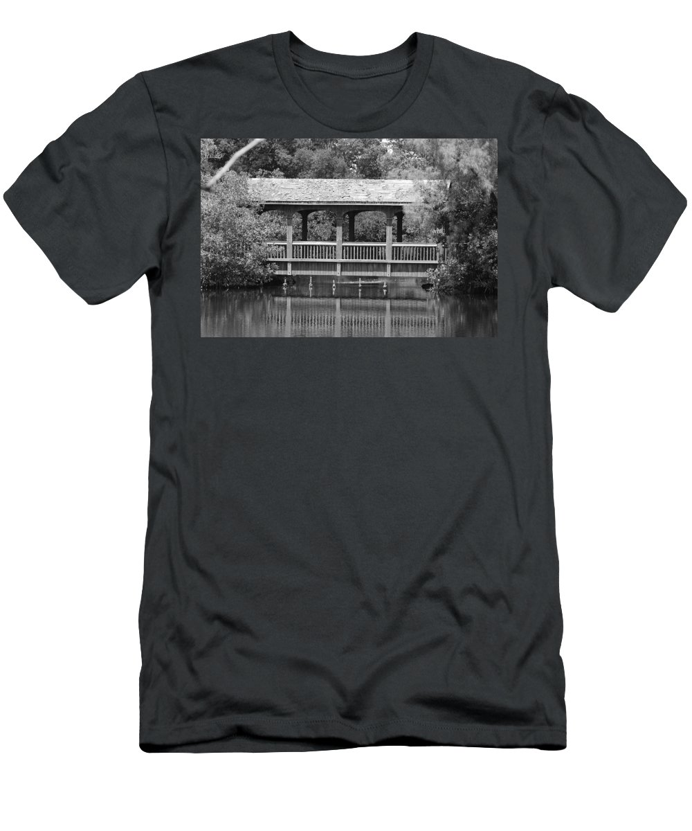 Architecture Men's T-Shirt (Athletic Fit) featuring the photograph The Bridges Of Miami Dade County by Rob Hans