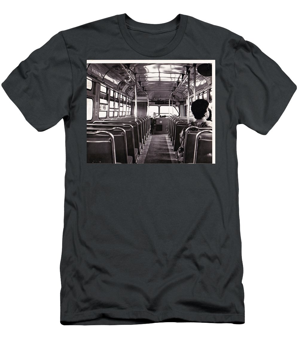 Riding The Bus In Honolulu Men's T-Shirt (Athletic Fit) featuring the photograph The Bus by BertJohn Bautista