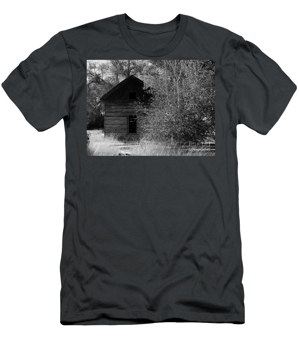 Cabin Men's T-Shirt (Athletic Fit) featuring the photograph The Cabin by Carol Groenen