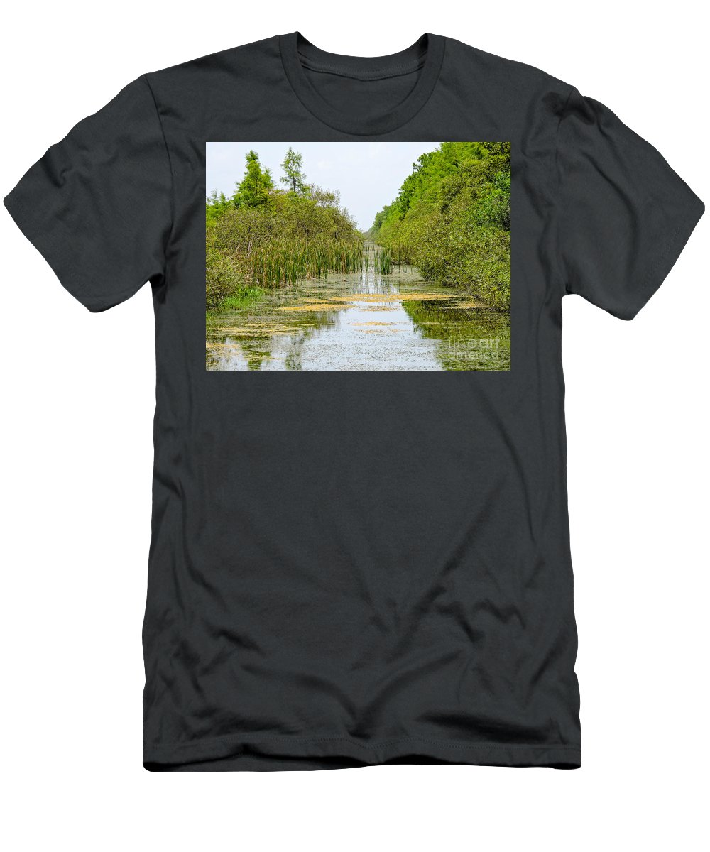 Rock Men's T-Shirt (Athletic Fit) featuring the photograph The Canal by Marilee Noland