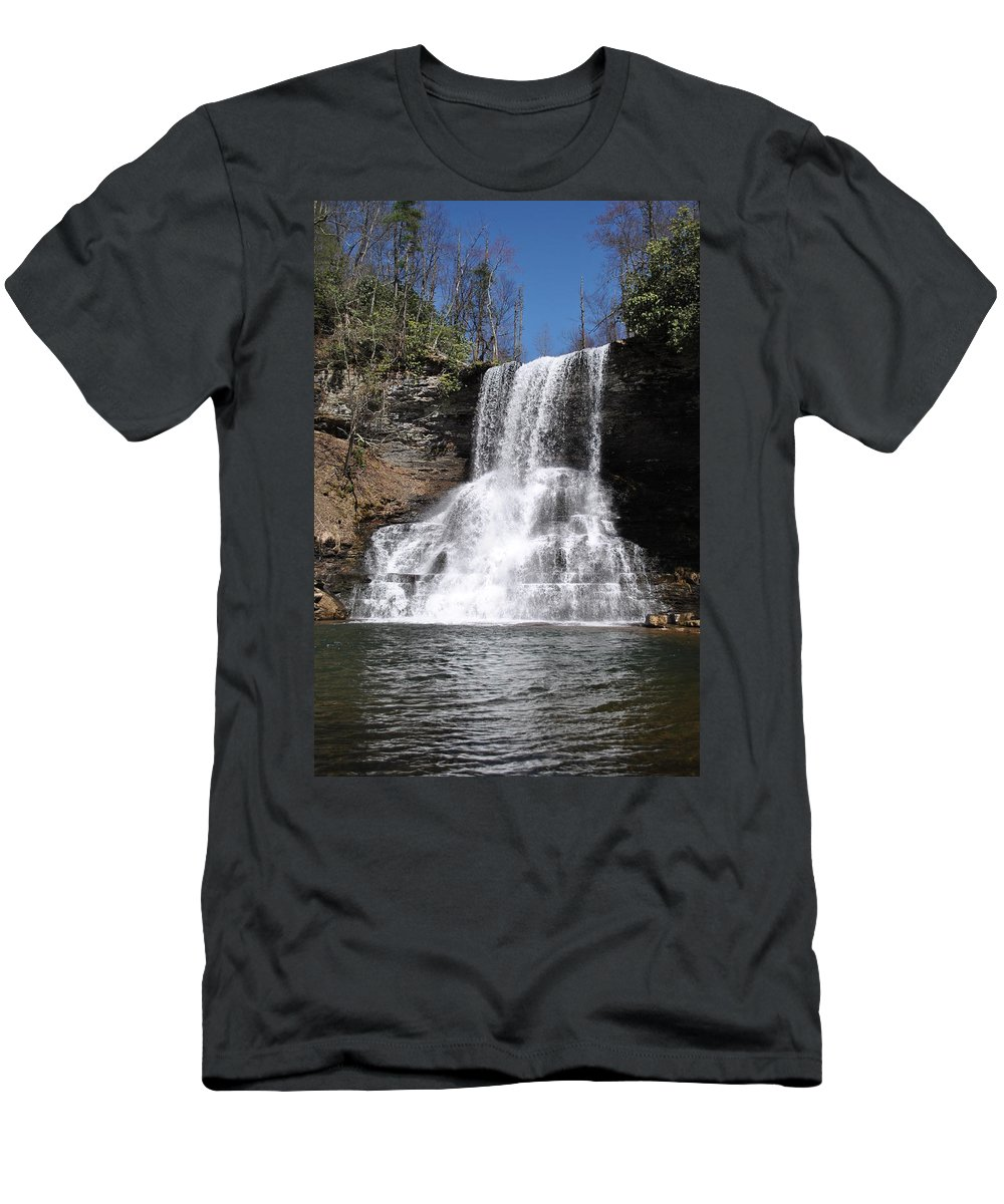 Waterfalls T-Shirt featuring the photograph The Cascades Falls II by Eric Liller