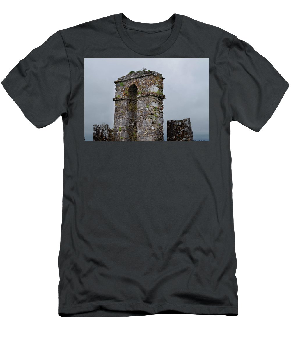 The Castle Gate Men's T-Shirt (Athletic Fit) featuring the photograph The Castle Gate by Sharon Popek
