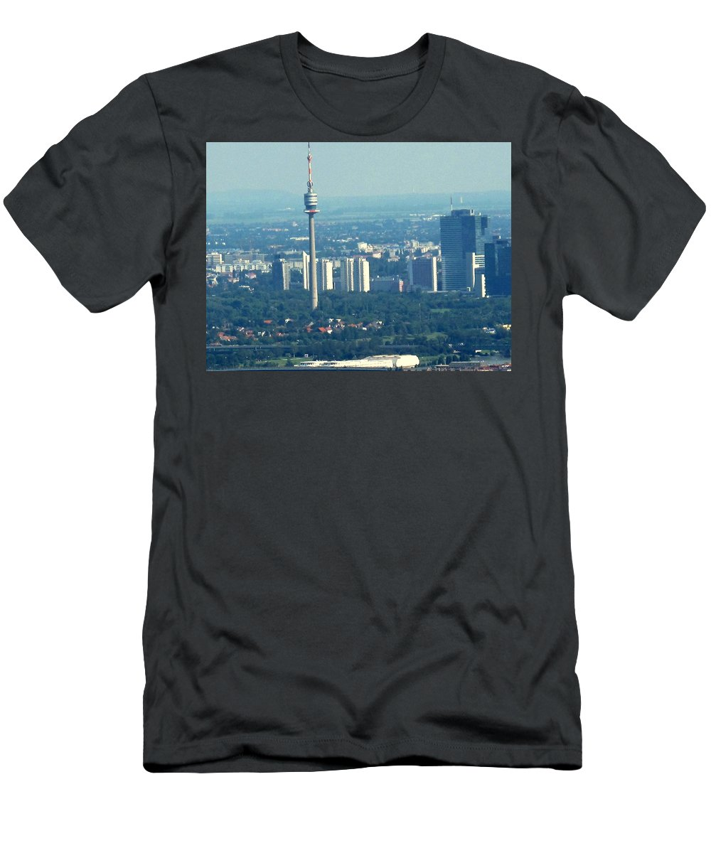 Austria Men's T-Shirt (Athletic Fit) featuring the photograph The City Of Vienna Austria by Ian MacDonald