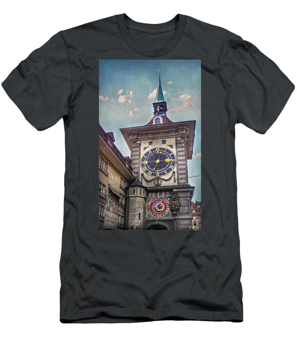 Switzerland Men's T-Shirt (Athletic Fit) featuring the photograph The Clock Of Clocks by Hanny Heim