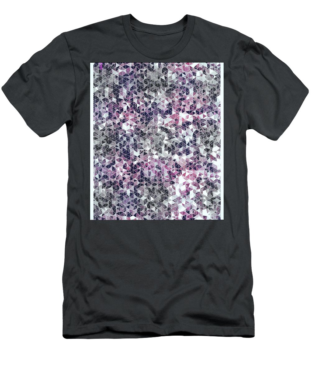 Black Men's T-Shirt (Athletic Fit) featuring the digital art The Coal Miner's Diamond Field by Debra Lynch