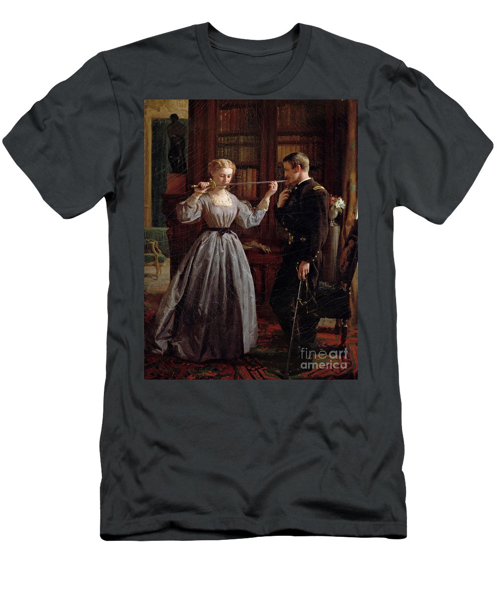 War Of Northern Aggression Men's T-Shirt (Athletic Fit) featuring the painting The Consecration by George Cochran