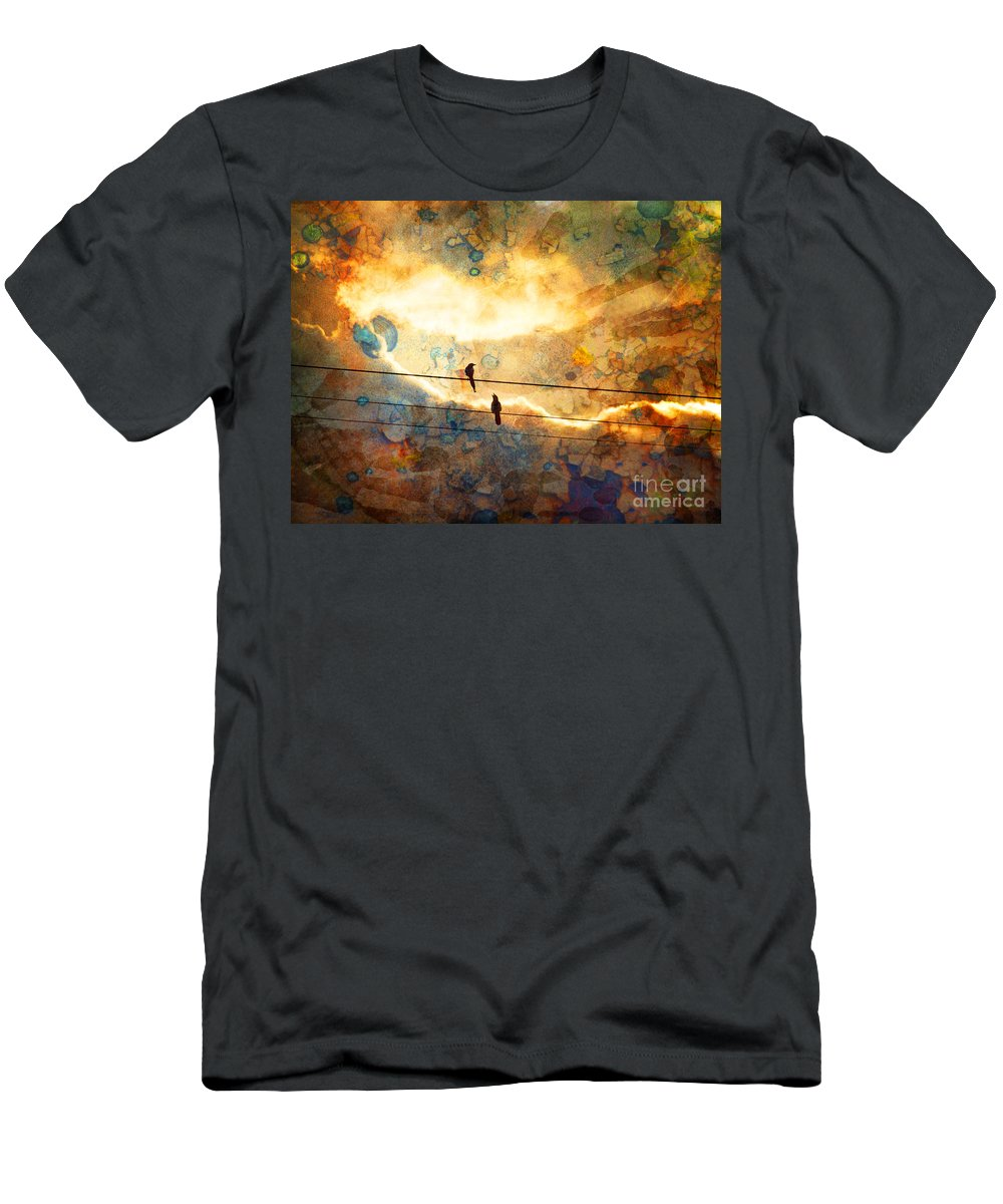 Texture Men's T-Shirt (Athletic Fit) featuring the photograph The Conversation by Tara Turner