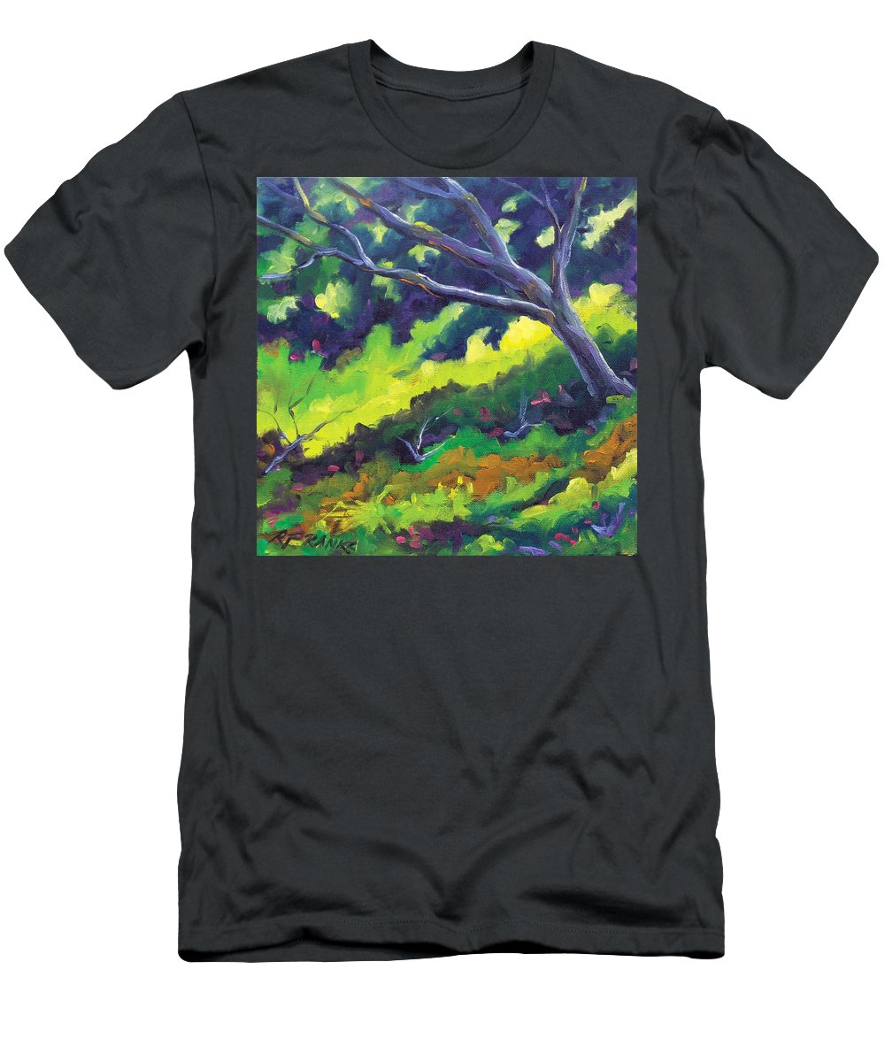 Art Men's T-Shirt (Athletic Fit) featuring the painting The Cool Shade by Richard T Pranke