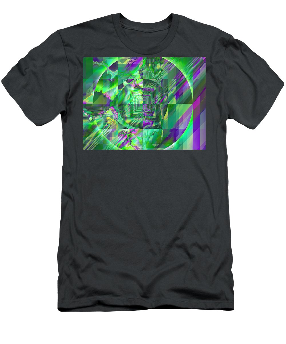 Fractal Men's T-Shirt (Athletic Fit) featuring the digital art The Crazy Fractal by Frederic Durville