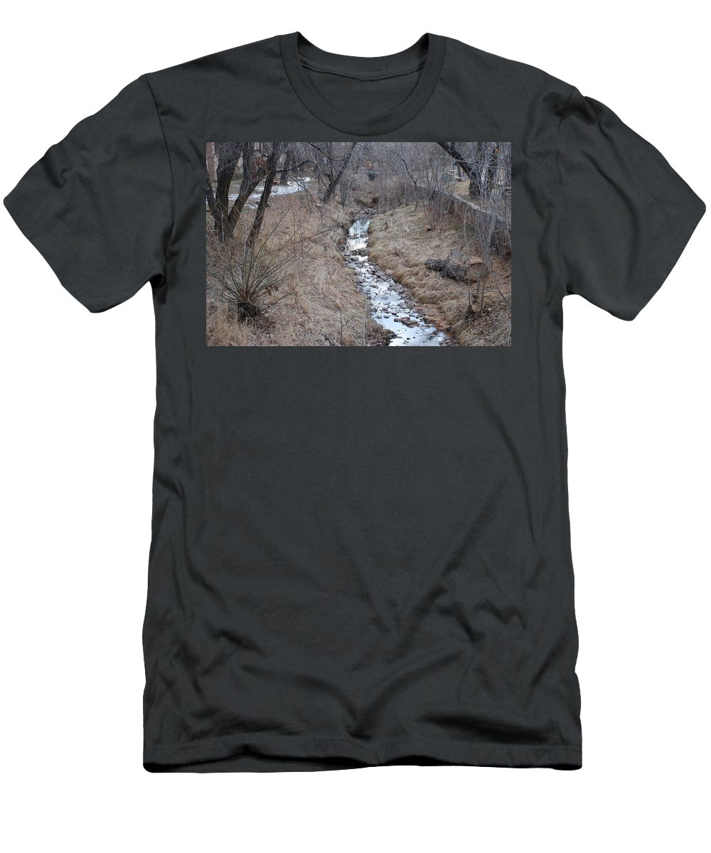 Water Men's T-Shirt (Athletic Fit) featuring the photograph The Creek by Rob Hans