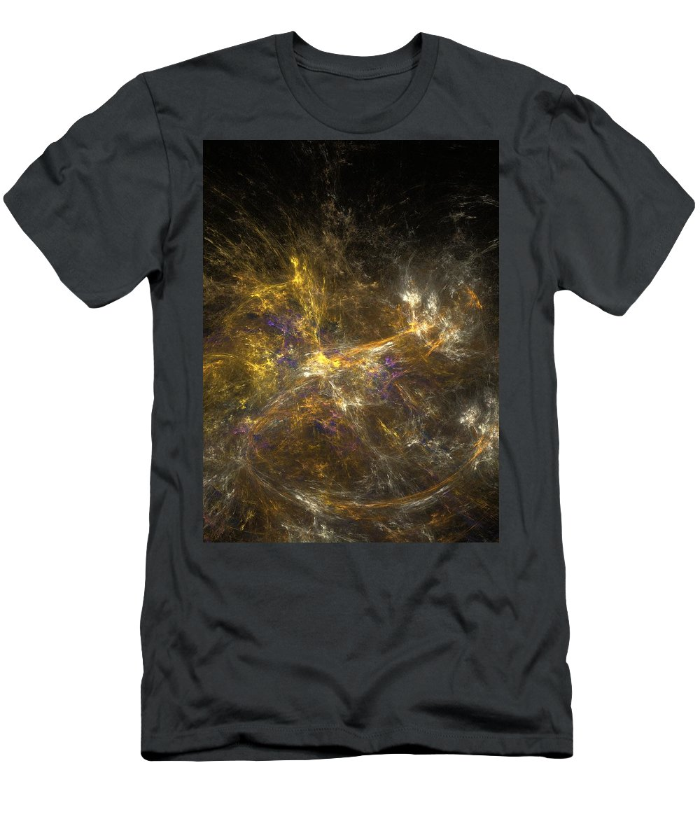 Abstract Digital Photo Men's T-Shirt (Athletic Fit) featuring the digital art The Dance 3 by David Lane
