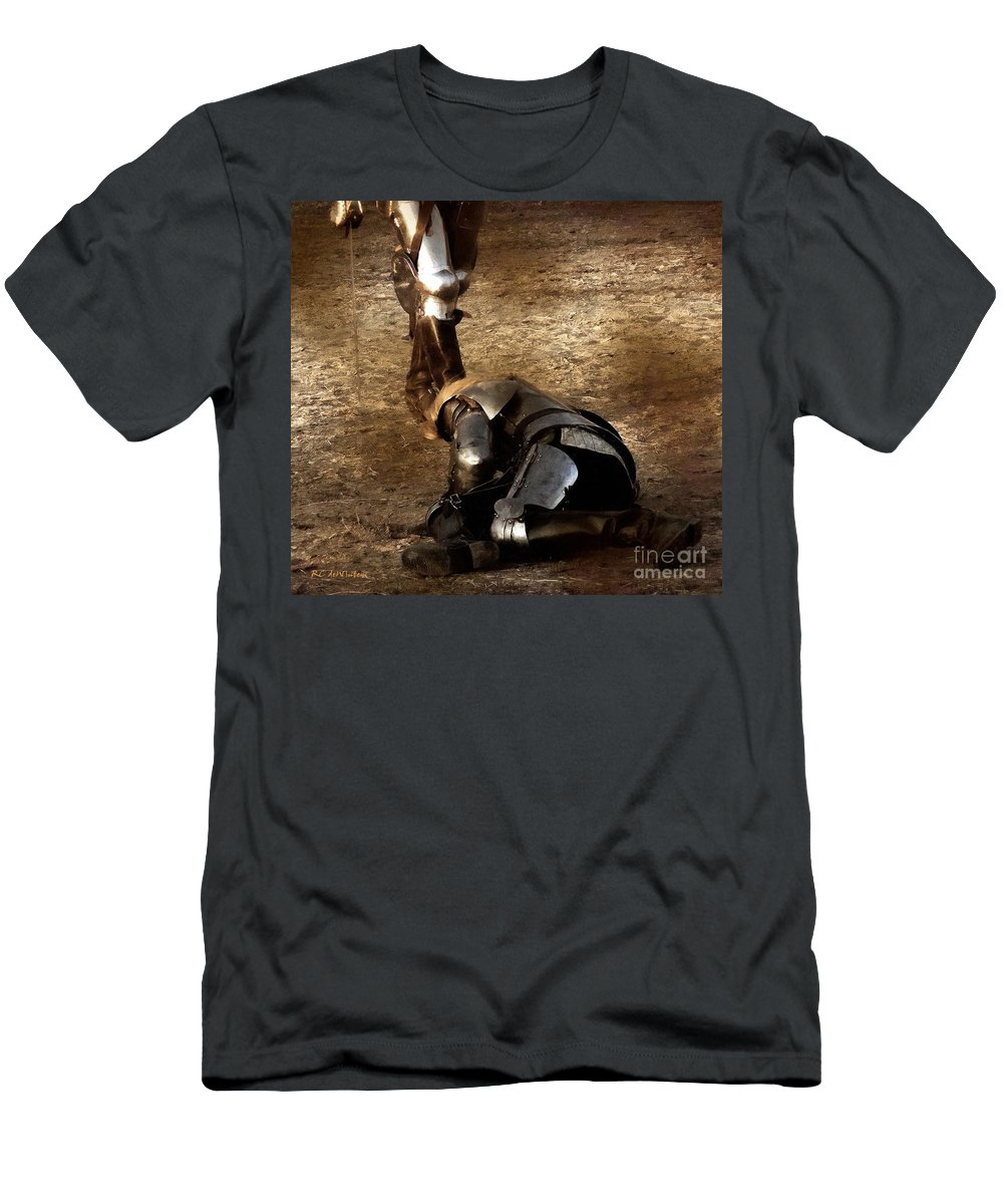 Arthurian Men's T-Shirt (Athletic Fit) featuring the painting The Death Of Colgrin by RC DeWinter