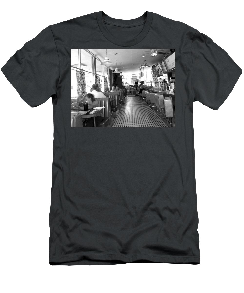 Diner Men's T-Shirt (Athletic Fit) featuring the photograph The Diner by Wayne Potrafka