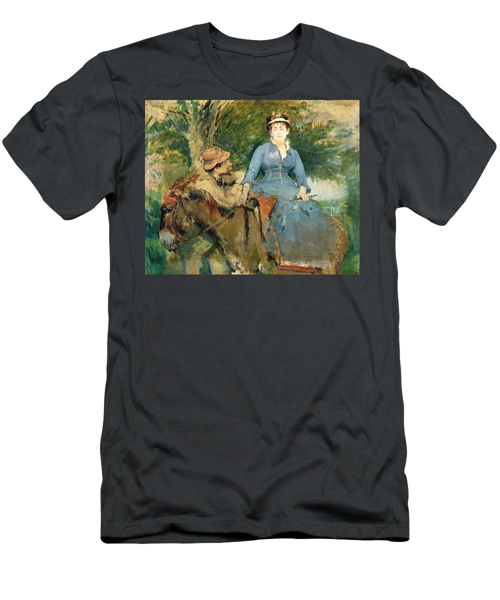 The Men's T-Shirt (Athletic Fit) featuring the painting The Donkey Ride by Eva Gonzales