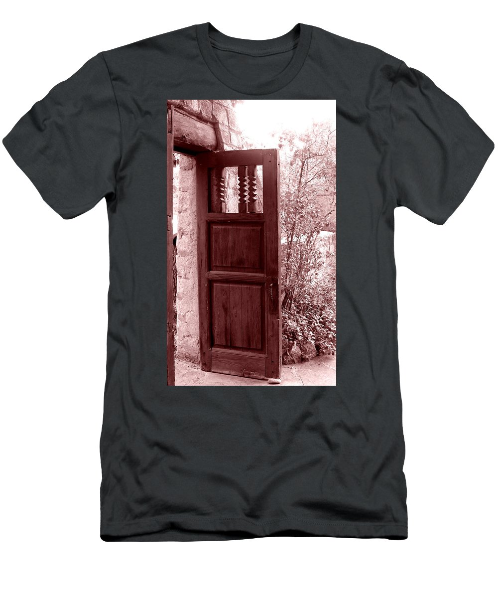 Door Men's T-Shirt (Athletic Fit) featuring the photograph The Door by Wayne Potrafka