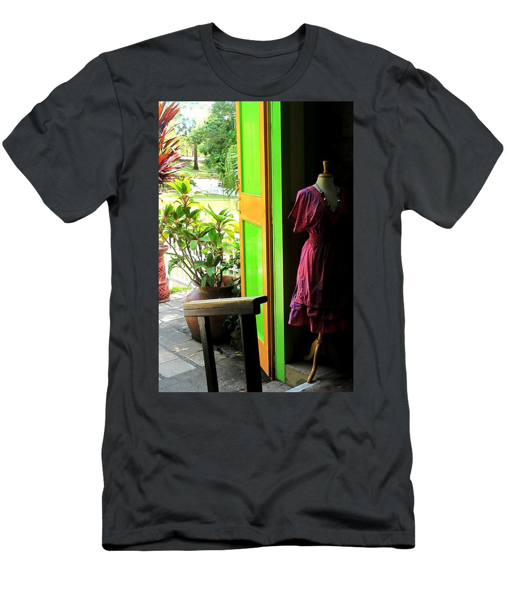 Dress Men's T-Shirt (Athletic Fit) featuring the photograph The Dress Store by Ian MacDonald
