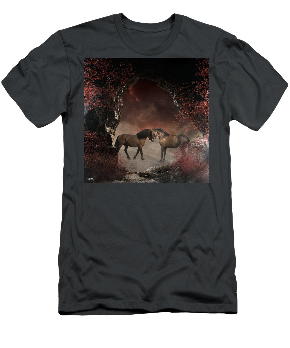 Horse T-Shirt featuring the photograph The Duel by G Berry