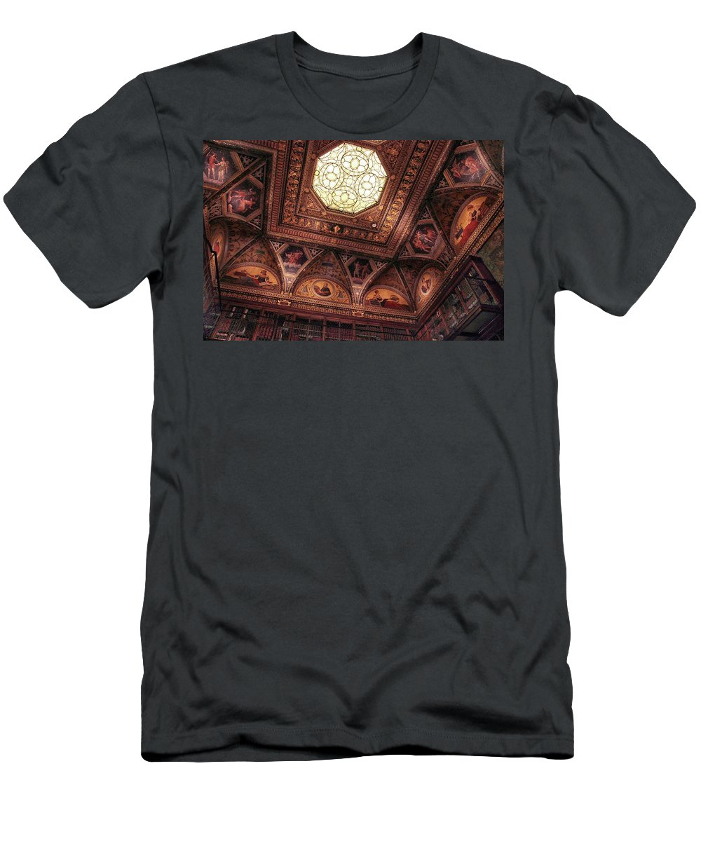 The Morgan Library Men's T-Shirt (Athletic Fit) featuring the photograph The East Room Ceiling by Jessica Jenney