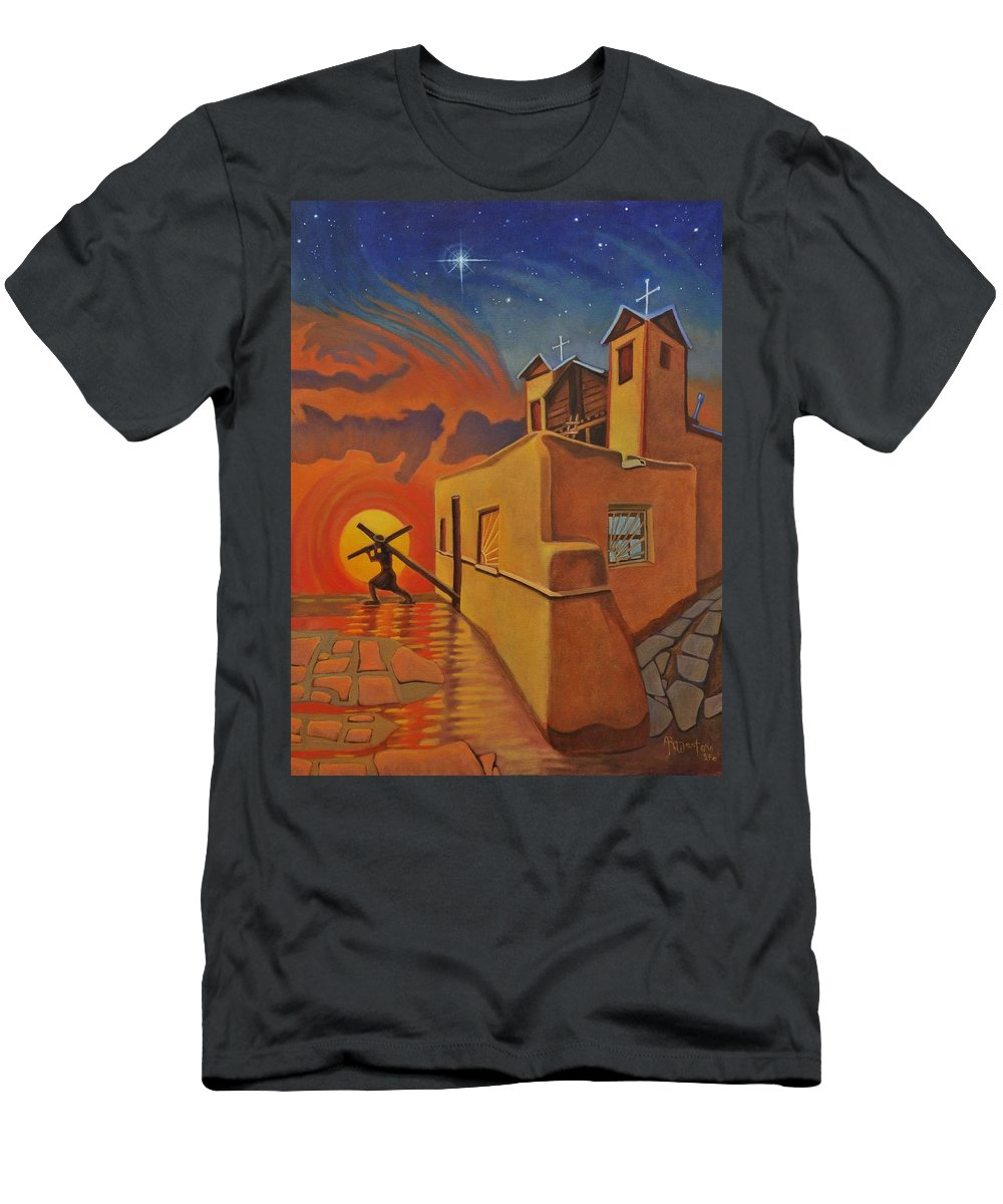 Chimayo Men's T-Shirt (Athletic Fit) featuring the painting The Emancipation Of Christ by Art West