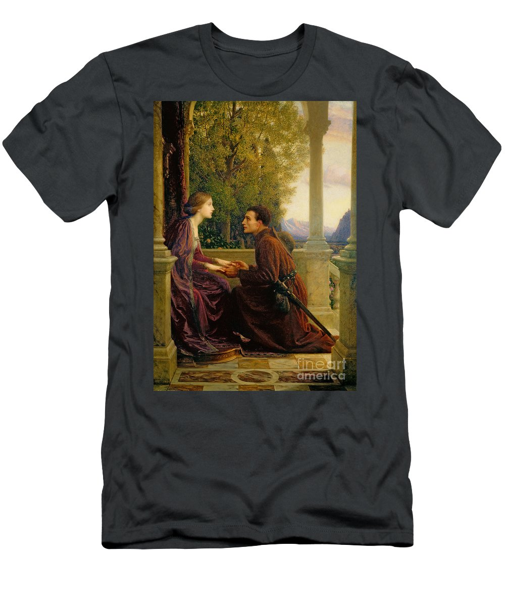 The Men's T-Shirt (Athletic Fit) featuring the painting The End Of The Quest by Sir Frank Dicksee