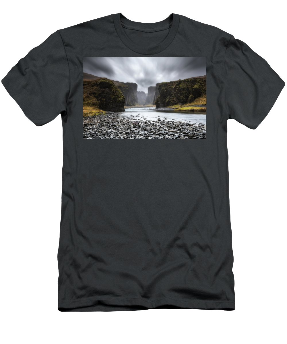 Iceland Men's T-Shirt (Athletic Fit) featuring the photograph The Entrance by Jorge Maia