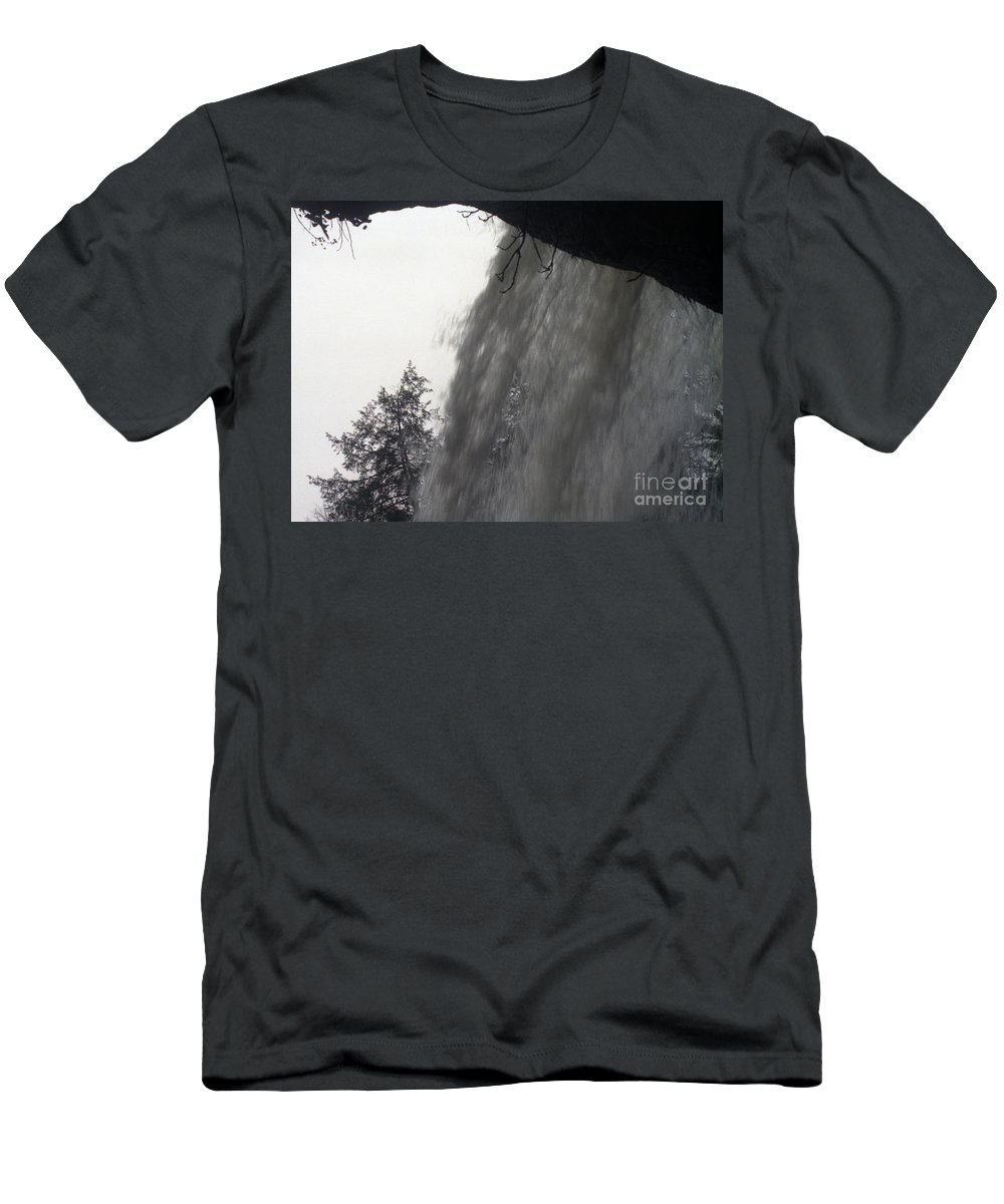 Waterfalls Men's T-Shirt (Athletic Fit) featuring the photograph The Falls by Richard Rizzo